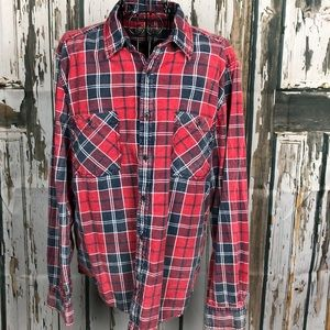 NICE distressed button down L